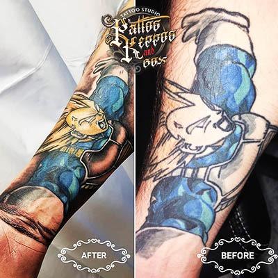 Anime Tätowierung Tattoo Studio Wien Pattos Keppos