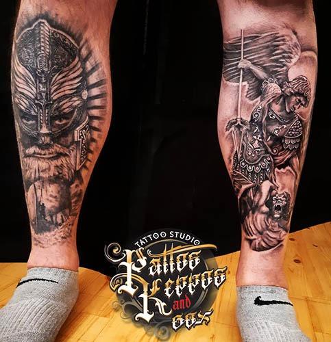 Bein Tattoo Tattoo Studio Wien Pattos Keppos