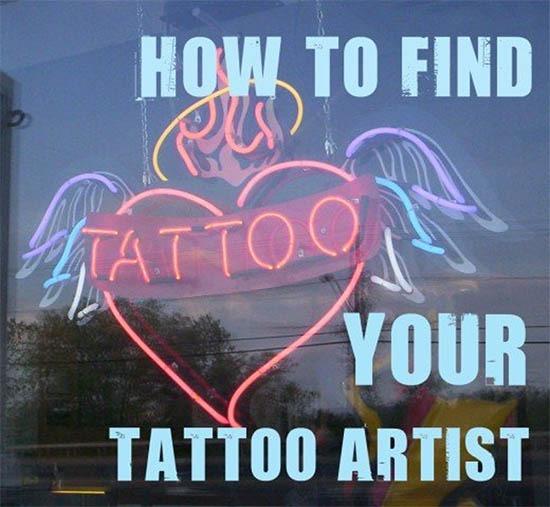Wie man seinen Tattookünstler auswählt