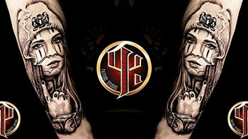Gangsta-Mädchen-Tattoo---Tattoo-studio-pattos-keppos youtube