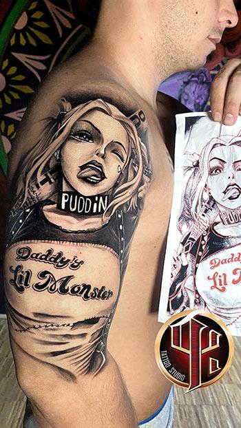 Harley Quinn Tattoo Studio Pattos Keppos Vienna