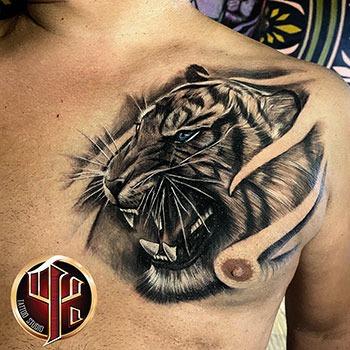 Tiger Tattoo made in tattoo studio pattos keppos wien